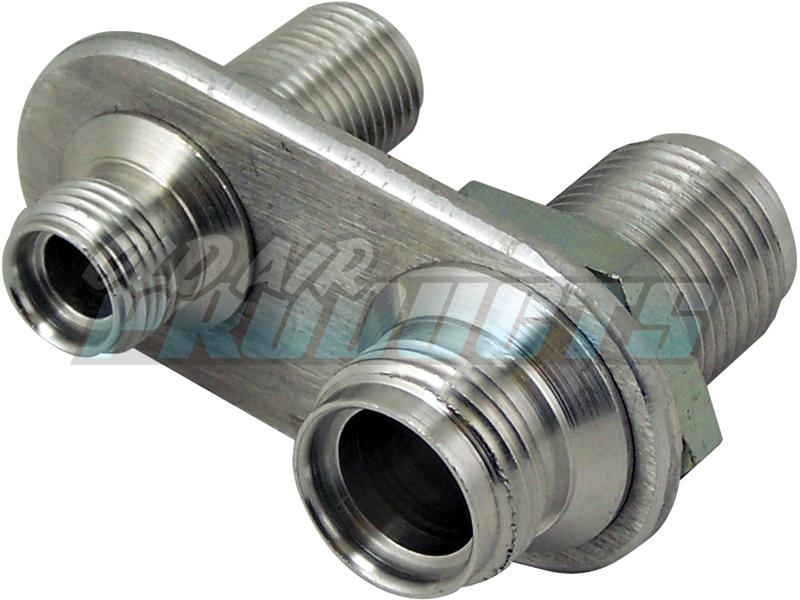 2 A//C #6 #10 2 Heater Fittings #10 o-ring 45-1440 Billet Bulkhead Fitting