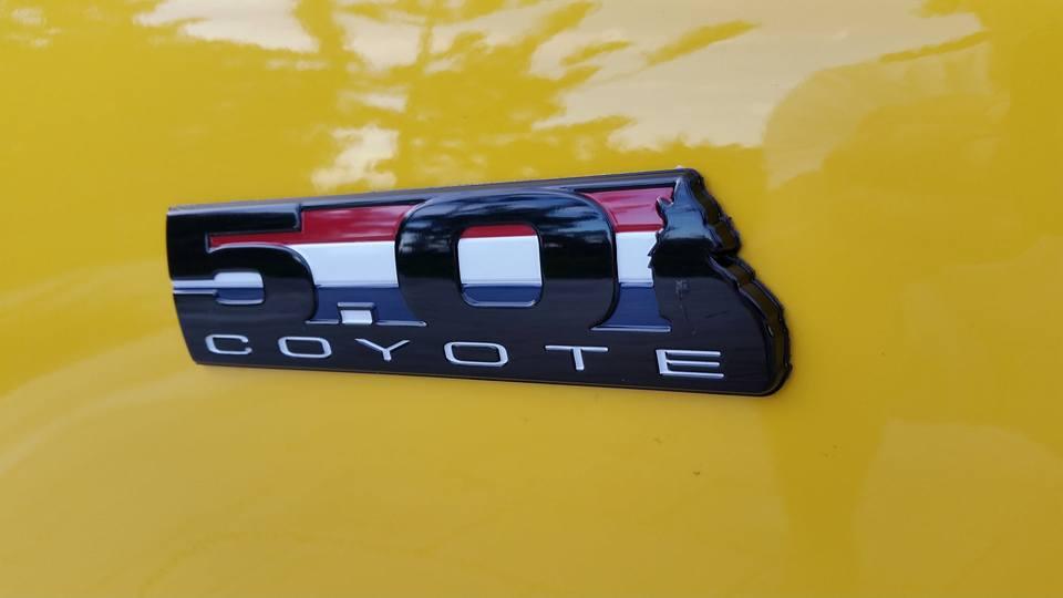 5.0 coyote side emblem - autoware