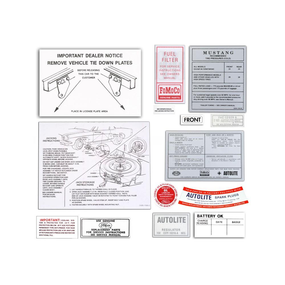 1965 Decal Kit 15 Piece Autoware Automatic Car Accumulator Filler Circuit Diagram Dk0025