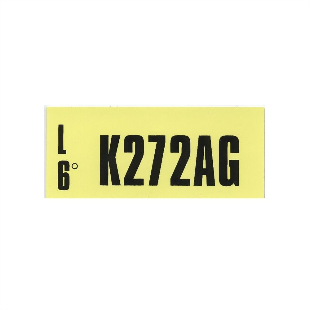 1970 Engine Ident Tag K272AG 302
