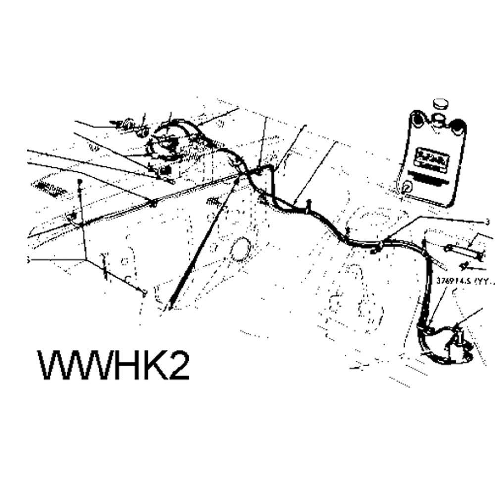 1967-68 Windshield Washer Hose Kit